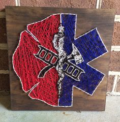 EMS/Firefighter String Art Wood Sign Home by CuseyCustomCrafts