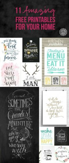 DIY Home Decor Ideas : Illustration Description 11 Amazing Free Printables for Your Home – Happily Ever After, Etc. -Read More – Craft Projects, Projects To Try, Ideias Diy, Home And Deco, Free Prints, Printable Wall Art, Free Printable Love Quotes, Free Printable Stencils, Printable Scripture
