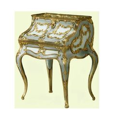 Miniature desk 1896-1908 by Carl Fabergé, neo-rococo design Royal Collection of Her Majesty Queen Elizabeth II