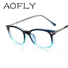 19bc625bb9f AOFLY Plain Eyeglass Frames Vintage Eye glasses Clear lens Optical Glass for  Women Men Retro Frame