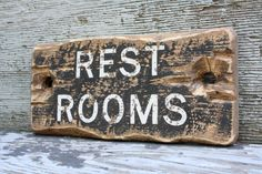 Rustic Sign restrooms Distressed Water Closet Wood Sign by TheUnpolishedBarn