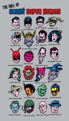 The Hall of Cliché Super Heroes