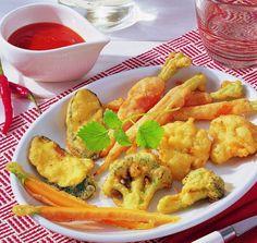 Frittiertes Gemüse mit Chilisoße