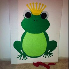 Pin the Kiss on the Frog - felt board