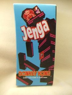 DONKEY KONG JENGA Collector's Edition ~ Ages 6 & Up ~ 2008 ~ Missing 2 Blocks