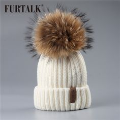 Image result for chunky baby hat with fur pom Couture, Chapeaux D hiver Pour 5e062371bf9