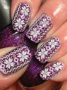 Purple Sweater Nails! - Canadian Nail Fanatic - Infinity 36 stamping plate