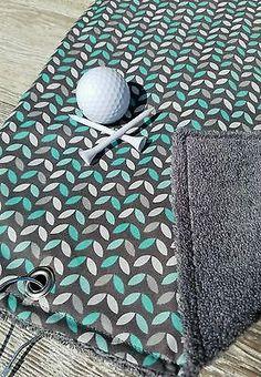 Golf Towel, Ladies Golf Towel, Terry Cloth Golf Towel, Gray Golf Towel, Golf