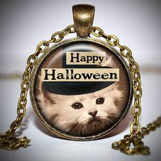 Halloween Pendant  Halloween Necklace  Halloween Jewelry by Jaylos, $8.00