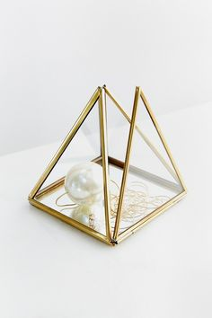 Magical Thinking Pyramid Mirror Box- Imagine this being made of clay!