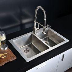 Accommodate oversized dishes with the tuscany single bowl kitchen combining form and function this dual mount kitchen sink is a true beauty large in size this dual mount sink well provides the perfect area for food workwithnaturefo