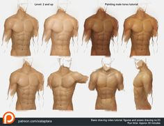 Painting male torso