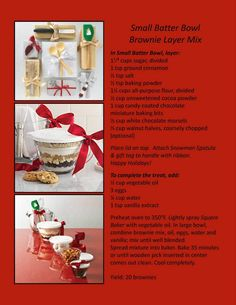 Use the Small Batter Bowls or Prep bowls to make yummy treats into treasured gifts! www.pamperedchef.biz/jennsimonetti