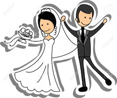 Wedding Picture, Bride And Groom In Love Royalty Free Cliparts ...