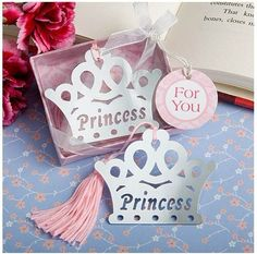 Crown bookmark with exquisite gift box packing baby shower return gifts party souvenirs