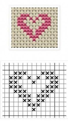 Hottest Free Cross Stitch heart Style Cross-stitch is an easy sort of needlework. - Hottest Free Cross Stitch heart Style Cross-stitch is an easy sort of needlework, perfect on the ma - Tiny Cross Stitch, Cross Stitch Bookmarks, Cross Stitch Heart, Cross Stitch Cards, Cross Stitch Borders, Cross Stitch Alphabet, Simple Cross Stitch, Cross Stitch Flowers, Modern Cross Stitch