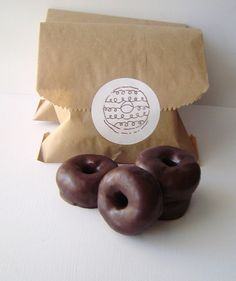 Dark Chocolate Mini Donut Set Glycerin Soap Set by KcSoapsNmore, $5.75