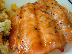 Marinated salmon -