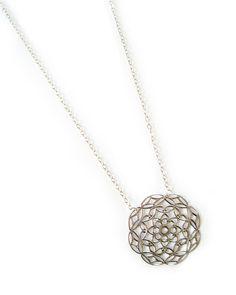 Silver Astor Filigree Pendant Necklace
