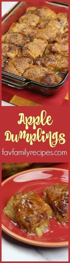 If you are looking for a delicious apple dessert recipe, this one is for you. These apple dumplings are like little individual apple pies and they are so easy to make! via @favfamilyrecipz