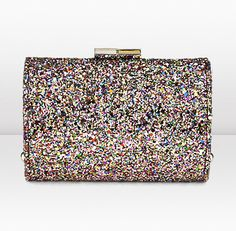Jimmy Choo - Coarse Glitter Evening Clutch Bag    Oh my GOSH i need this bag!!!! Too bad it costs $950.