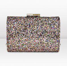 Jimmy Choo - Coarse Glitter Evening Clutch Bag    Oh my GOSH i need this bag!!!! Too bad it costs $950.