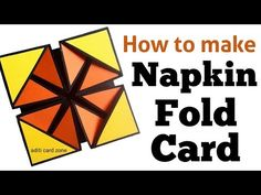 How to make Napkin fold card Birthday Greeting Cards, Birthday Greetings, Greeting Cards Handmade, Card Birthday, Father Birthday, Diy Birthday, Birthday Gifts, Friends Valentines Day, Diy Valentines Cards