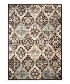 Look what I found on #zulily! Black & Light Blue Shaun Power-Loomed Rug by  #zulilyfinds