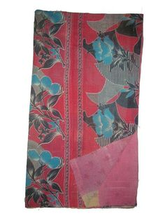 INDIAN KANTHA OLD QUILTI MULTI COLOR COTTON BEDSPREAD NEW DESIGN HOME FURNISHING #LuckyHandicraft #Traditional