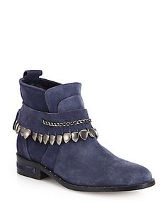 FREDA SALVADOR Star Suede Ankle Boots