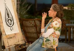 Vagina art Grace and Frankie