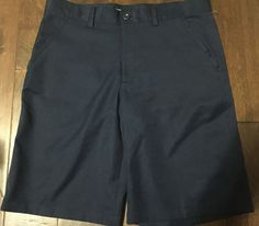 6119a8bf69440 Izod Golf Classic Fit Shorts Stretch Wicking Sun Control Flat Front Blue  NWT 33  fashion