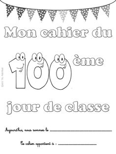 Quand t'es maicresse tu fêtes le 100ème jour de classe. 100th day of class 1st Grade Math, Grade 1, 100s Day, French Education, Connect The Dots, 100 Days Of School, Teaching French, Mathematics, Kindergarten