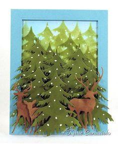 Deer Buck Doe Set American Made Steel Dies by Impression Obsession Printable Christmas Cards, Christmas Cards To Make, Xmas Cards, Christmas Art, Holiday Cards, Holiday Parties, Scrapbook Cards, Scrapbooking, Winter Karten