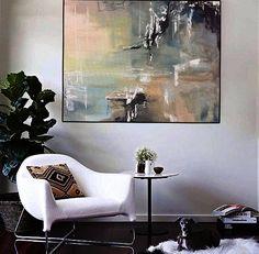 Impresión de pintura abstracta sobre lienzo por Julia Kotenko. Embalaje: Doblado y sumergido en un tubo sólido Tamaño: Variable Si necesitas un tamaño diferente, me avisas. De envío gratis. La firma se colocará en el reverso del lienzo por lo que se puede colgar cualquier lugar que