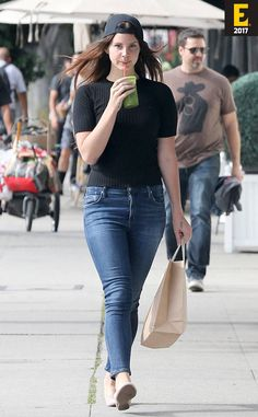 Lana Del Rey spotted getting in some retail therapy while wearing Citizen Of Humanity of jeans