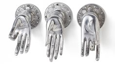 {Buddha Hands} Peace, Fearlessness, Intellect - decoration, as jewelry holder, or even door knobs!
