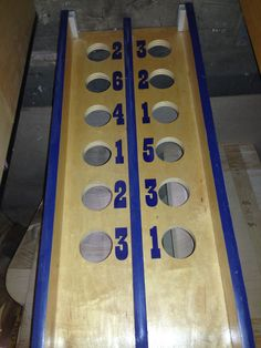 "This game was handmade at our facility using quality 3/4"" Birch Plywood. Each Game Comes Complete with: - 2 Rubber Coated Baseballs Specifications: H:10"" x L:60"" x W:13"" Weight: 41 lbs This Product ha"
