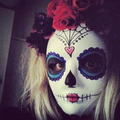 Sugar skull mask for Mexican themed party  Halloween day of the dead. How to make a sugar skull mask tutorial coming soon