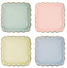 Mint Pastel Large Plates by ToosieRose on Etsy