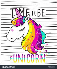 Cute Magical Unicorn,Sweet Kids Graphics For T-Shirts Stock Vector Illustration 522803854 : Shutterstock