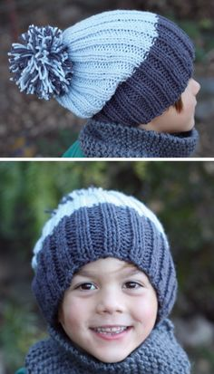Free Pattern Simple Ribbed Knit Hat # free pattern einfache gerippte strickmütze # bonnet en tricot côtelé à motif gratuit Beanie Knitting Patterns Free, Baby Hats Knitting, Beanie Pattern, Knitting For Kids, Free Knitting, Child Knit Hat Pattern, Knitting Projects, Easy Knit Hat, Loom Knit Hat