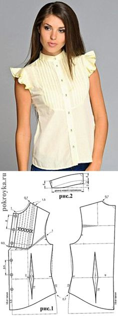 Amazing Sewing Patterns Clone Your Clothes Ideas. Enchanting Sewing Patterns Clone Your Clothes Ideas. Blouse Patterns, Clothing Patterns, Blouse Designs, Sewing Patterns, Sewing Blouses, Sewing Shirts, Apparel Design, Top Pattern, Pattern Fashion
