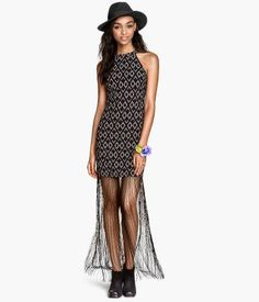 Fringed halterneck dress #halterneckdress #women #covetme #h&m