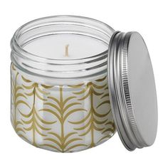FÖRLIKA Scented candle in glass, gold, Fig tree $1.99