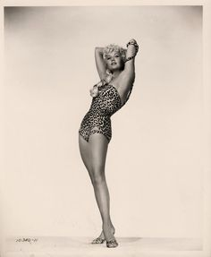 Rhonda Fleming vintage leopard swimsuit
