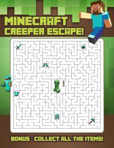 Ideas for hosting a Minecraft themed birthday party. Minecraft Activities, Minecraft Party Games, Minecraft Party Decorations, Minecraft Birthday Party, Minecraft Cake, Minecraft Crafts, Activities For Kids, Minecraft Skins, 9th Birthday Parties