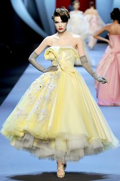 This Dior dress? I surprise myself by liking something 'new'.