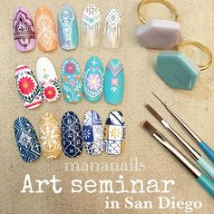 Seminar in San Diego @ American Beauty Institute Abi Proper. Love Nails, Fun Nails, How To Do Nails, Japan Nail, Nailart, Gel Nagel Design, Manicure Y Pedicure, New Nail Art, Super Nails