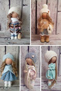 Tilda doll Rag doll Cloth Art doll handmade by AnnKirillartPlace Pretty Dolls, Cute Dolls, Beautiful Dolls, Doll Toys, Baby Dolls, Sewing Toys, Waldorf Dolls, Soft Dolls, Diy Doll
